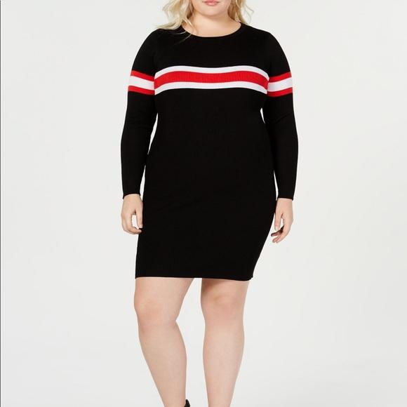 NWT Trendy Plus Size Striped Sweater Dress 2X NWT